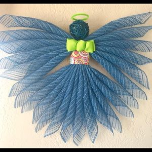 Other - Deco mesh rustic county angel
